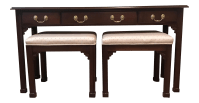 Harden Furniture Sofa Table & Nesting Stools