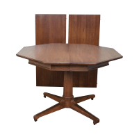 Thomasville Mid-Century Pedestal Base Dining Table | Chairish
