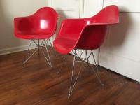 Modernica Fiberglass Eiffel Chairs - A Pair | Chairish