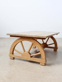 Vintage Wagon Wheel Coffee Table | Chairish