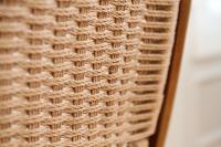 Vintage Mid Century Modern Hans Wegner Style Woven Rope ...