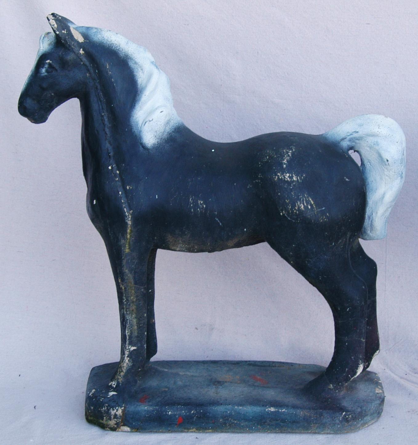 1950s concrete horse garden statues