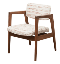 Mid-Century Upholstered Side Chair | Chairish