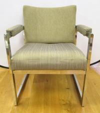 Mid-Century Modern Chair Chrome Chair | Chairish