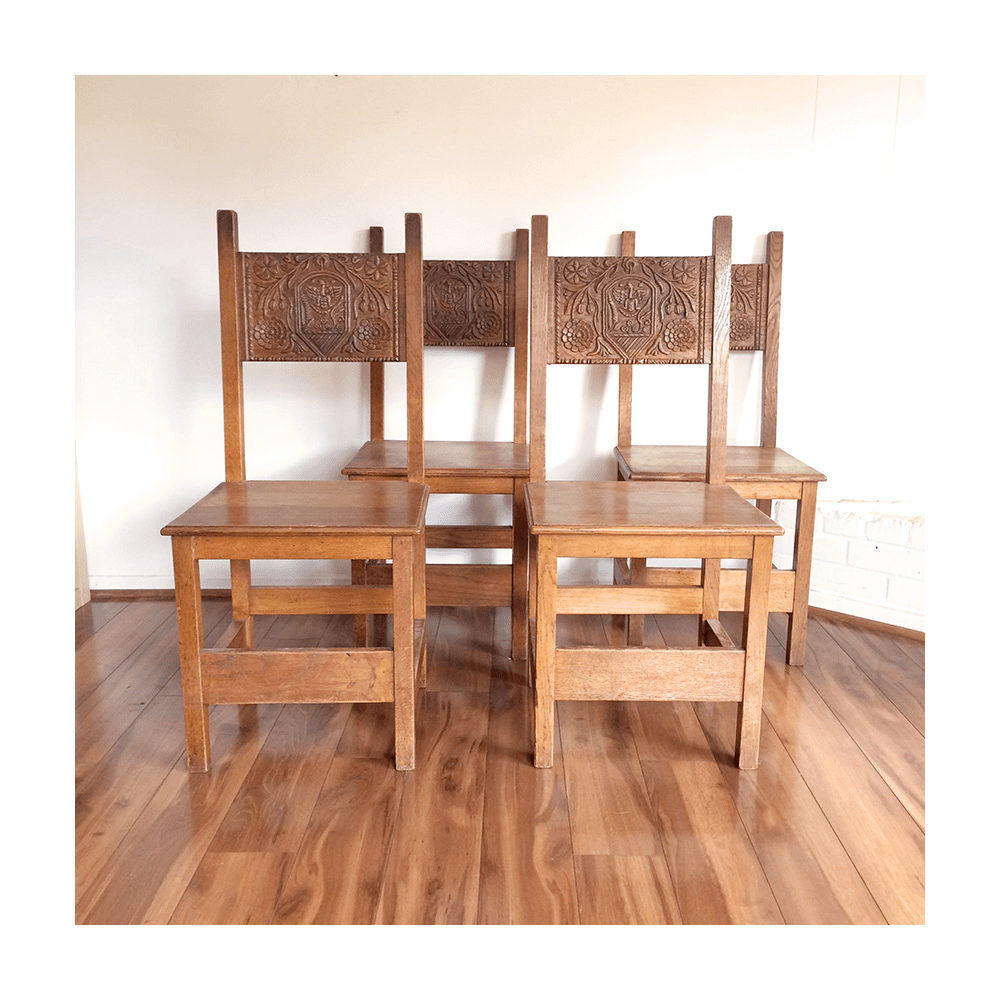 40s Gothic Dragon Dining Chairs