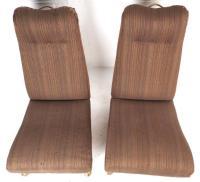 Mid-Century Modern High Back Slipper Chairs - a Pair ...