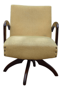 Mid-Century Gold Swivel Chair | Chairish