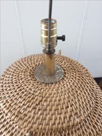 Vintage Wicker Basket Table Lamp