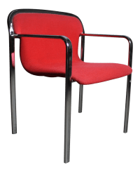 Mid Century Red Accent Chair Attributed to Knoll | Chairish