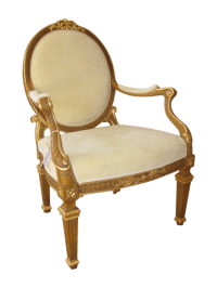 Louis XVI Oval Back Armchair   Chairish