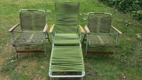 Vintage Mid Century Tube Folding Lawn Chairs - 3 | Chairish