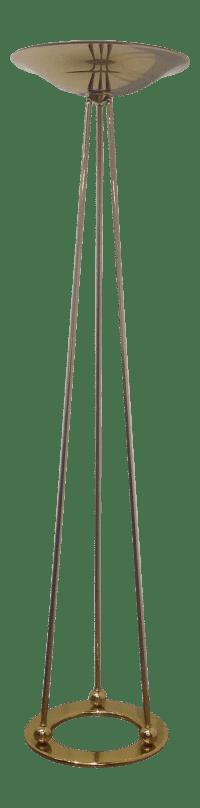 Vintage Casella Brass Torchiere Floor Lamp