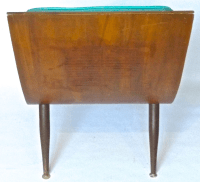 Mid-Century Modern Leather Scoop Chair | Chairish