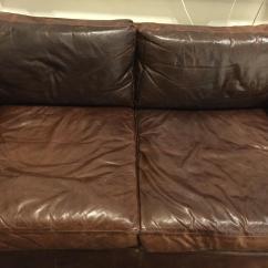 Next Brompton Leather Sofa Blue Sectional Restoration Hardware Maxwell | Chairish
