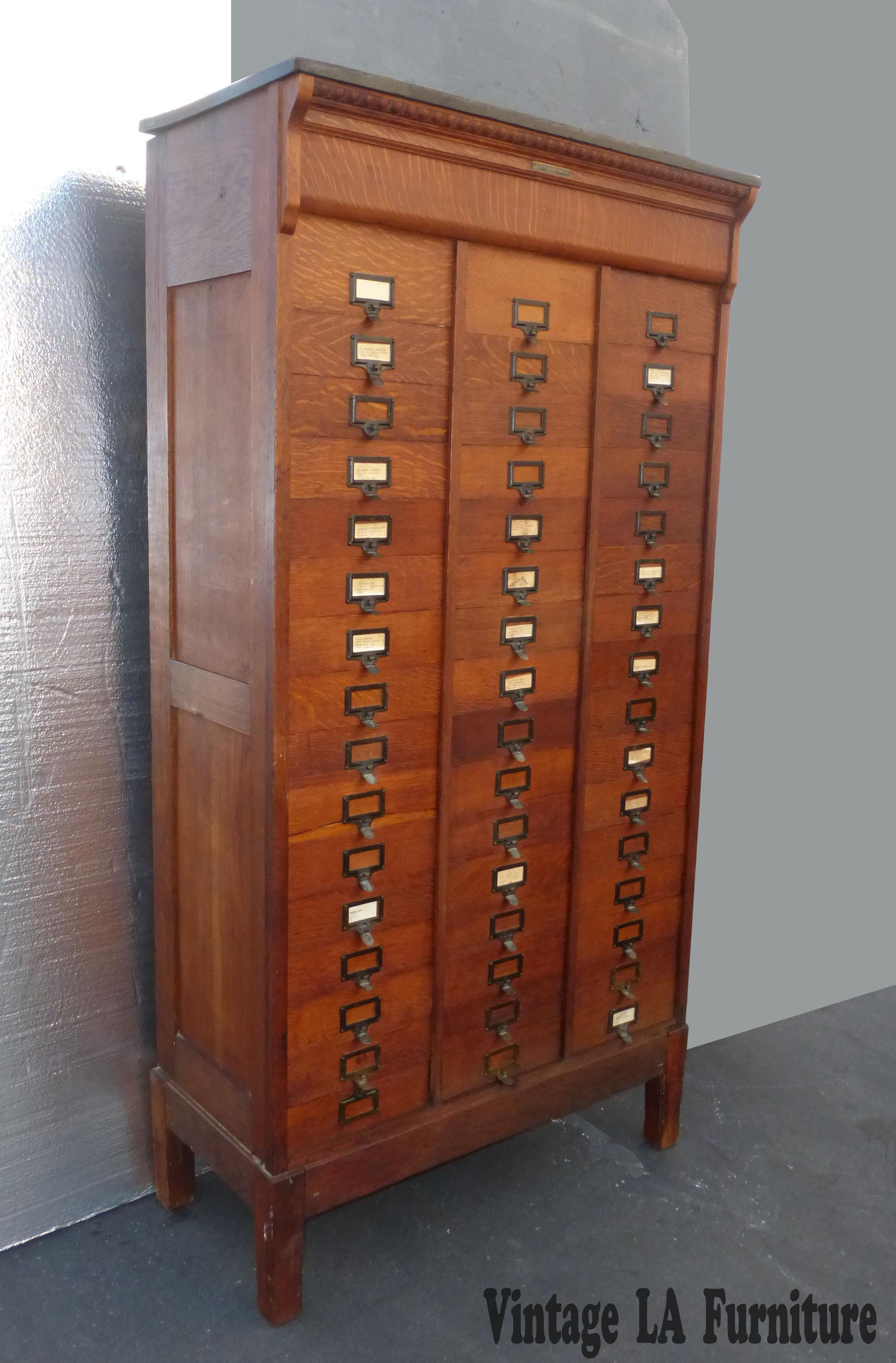 MOhmers Sons Antique Amberg Patent Filing Oak Letter Cabinet  Chairish
