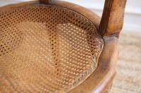 Vintage French Shabby Chic Cane Chairs - A Pair | Chairish