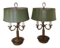 Bouillotte Table Lamps - A Pair | Chairish