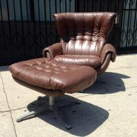 Lounge Chair and Ottoman by Overman