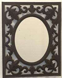Vintage Wrought Iron Wall Mirror | Chairish