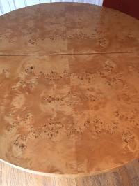 Mid-Century Milo Baughman Burled Wood Dining Table | Chairish