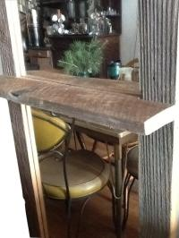 Reclaimed Rustic Wood Floor Mirror | Chairish