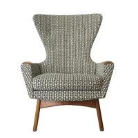 Black & White Adrian Pearsall Wing Back Chair | Chairish