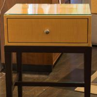 Dark Mahogany and Maple Night Stands - Pair | Chairish