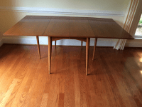 Mid-Century Expandable Drop Leaf Dining Table | Chairish