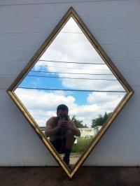 Diamond Shaped Mirror | Chairish
