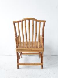 Vintage Mid-Century Modern Rattan & Bamboo Arm Chair ...