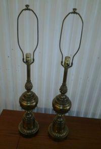 1960s Modern Stiffel Brass Table Lamps