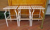 Tropitone Mid Century Modern Pation Bar Stools - Set of 3 ...