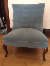 Powder Blue Velvet Chair | Chairish