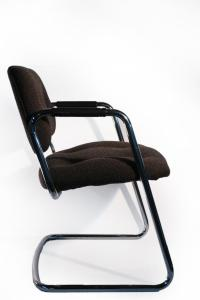 Mid-Century Steelcase Style Cantilever Chair | Chairish