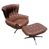 Lounge Chair and Ottoman by Overman | Chairish