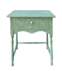 Vintage Shabby Chic Side Table | Chairish