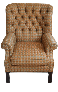 Henredon Barrel Back Wing Chair | Chairish
