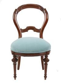 Victorian Style Turquoise Velvet Chair | Chairish