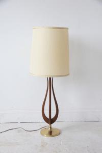 Tall Vintage Mid Century Modern Table Lamp   Chairish