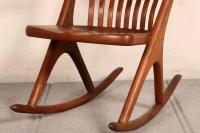 Mid-Century Modern Walnut Rocking Chair | Chairish