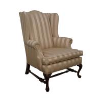 Ethan Allen Queen Anne Wingback Chair | Chairish