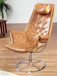 Bruno Mathsson for DUX Mid-Century Jetson Chair   Chairish