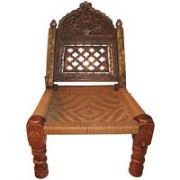 Hand-Carved Meditation Chair | Chairish