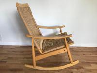 Vintage Mid Century Modern Hans Wagner Style Rocking Chair ...