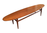 Drexel Heritage Mid Century Modern Walnut Surfboard Table ...