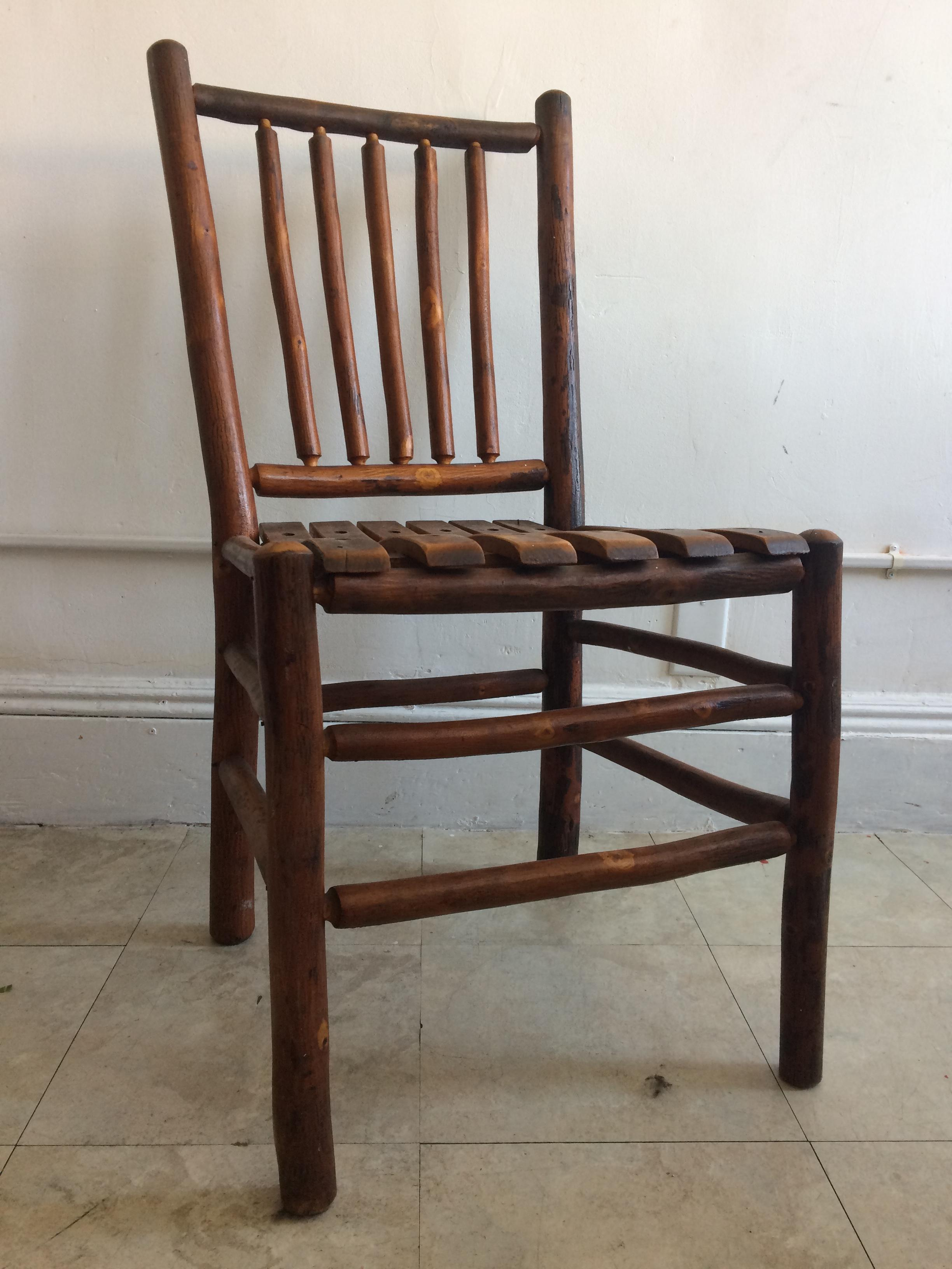 Vintage Old Hickory Rustic Dining Chairs  Set of 4  Chairish