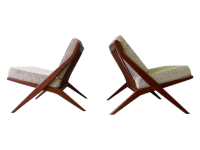 Mid Century Modern Scissor Lounge Chairs - Pair | Chairish