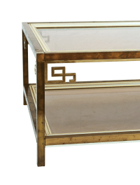Mastercraft Mid-Century Brass Coffee Table | Chairish