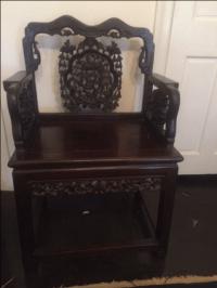 Antique Chinese Throne Chair | Chairish
