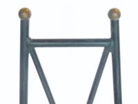 Mid-Century Modern Iron High Back Chair | Chairish